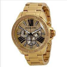 Michael Kors MK6095 Women's Wren Crystal Watch, Gold, One Size