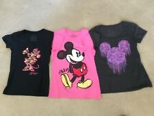 Pre-Owned Disney Store 3 Short Sleeve T-Shirts Womens Size M