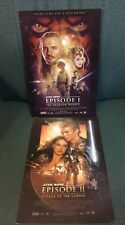 RARE STAR WARS EPISODE 1 AND EPISODE 2 POSTER LOBBY CARDS 8 X 11.5 CARDBOARD VF