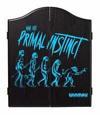 Winmau Man Cave Primal Instinct Veneer-Effect Black Dartboard Cabinet