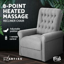 Artiss Recliner Chair Electric Massage Chairs Sofa Lounge Armchair Fabric Heated