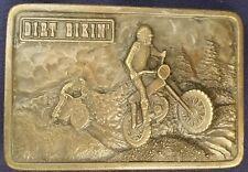 Dirt Bike Vintage ©1976 Pewter Buckle by Bergamot Brass Works motorcycle offroad