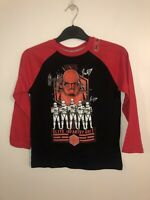 Thr Childrens Place New Boys Star Wars Long Sleeve T-shirt Sz S 5/6 Stormtrooper