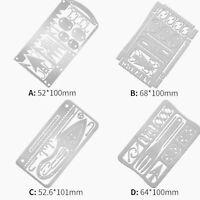 4Pcs Carte D'outil De Survie Meilleur Kit Survie Multitool Pocket Kit D'urgence