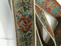 VINTAGE ROSE TRIM WOVEN STUNNING CRAFTS LAMP SHADE EMBELLISHMENTS HATS