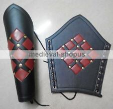 New Pair Greaves Medieval Armour Roman Reenactment Studded Larp Leg Guard