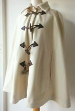 ALEXANDER MCQUEEN COAT PONCHO UK 10 wool white collared