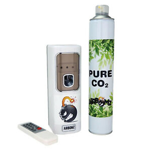 AirBomz CO2 Dispenser Light Sensor Timed Can Remote Controlled Bloom Yield Hydro