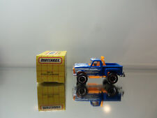 1995 Matchbox Ford Flare Side Pickup - Blue - N.Mint Loose W/ Box 1/76 Scale