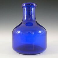 SIGNED Kosta Boda Blue Glass Swedish Vase by Erik Hoglund