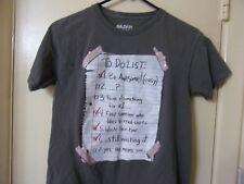 Gildan Boy's Gray Short Sleeve  T Shirt  Size 14/16 XL Cotton To Do List