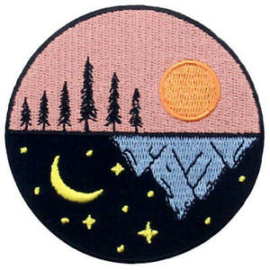 Embroidered Patches Iron On Sew Patch Badges appliques transfers Sun Stars Moon