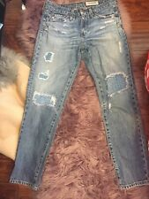 Adriano Goldschmied The Beau Slouchy Skinny Repurpose/Patched Size26R Distressed