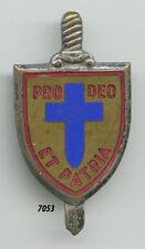 Insigne commando , Unités Mobile de Défense des Chrétientés , ( texte rouge )