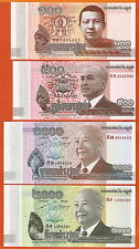 P63-67   Cambodia/Kambodscha  100-500-100-2000 Riels   2012-14  UNC