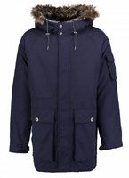 Oneill Navy Night Odyssea Down Parka Jacket Coat Mens Size S Small *REF88