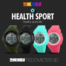 SKMEI Kid Sports 3D Pedometer LED Digital Sport Watch 5ATM Waterproof Wristwatch