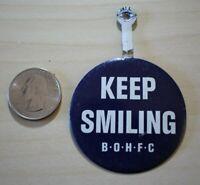 Benson's Old Home Fruit Cake Keep Smiling BOHFC Tab Foldover Pinback Button