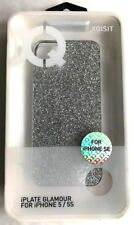 Xqisit iPlate Glamour Silver Glitter Sparkling Hard Case for iPhone 5,  5S & SE