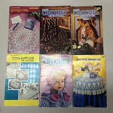 Lot Of Annie's Crochet Patterns Afghans Doilies Sweaters Rugs Hats Dolls Pillows
