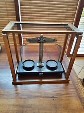More details for mint vintage griffin and george glass cased beam balance scales from1960s