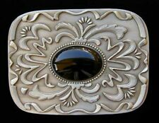 WESTERN SCROLLWORK BELT BUCKLE WITH STONE CLASSIC