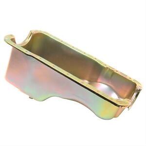 Summit Racing G3534 Oil Pan Steel Gold Zinc Ford Small Block 1965-87 Each