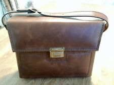 Vintage Brown Leather Carrying Case with Strap for Polaroid Sx-70