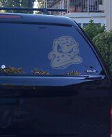 01-17 Mighty Ducks of Anaheim Retro Angry Face Logo Window Vinyl Sticker Decal