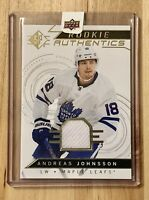 2018-19 Upper Deck SP Rookie Authentics Retail Jerseys Andreas Johnsson #118