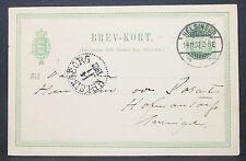 Denmark CARD Helsingør suède 1902 ganzsache GS Danemark post carte (h-9097