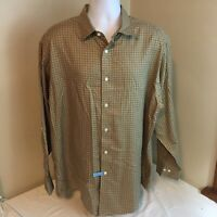 Brooks Brothers Madison Mens Shirt XL 100% American Supima Cotton Non-Iron Brown
