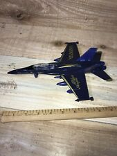 """9"""" Diecast F-18 Blue Angel Model Navy Fighter Jet Toy Plane Collectible Airplane"""