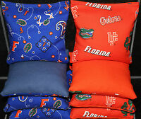 FLORIDA GATORS CORNHOLE BEAN BAGS BAGGO TOSS Quality Handmade Corn Hole Bags!