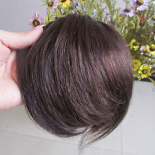 """New 8"""" Fashion Bang Human Hair Clips in Extensions Front Fringe 20g Brown #2"""