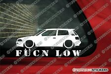 Toyota Corolla GT Twin Cam AE94 (e90) 3-Door 'Fukn Low' lowered car sticker