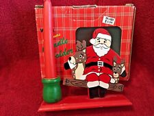 West Coast Liquidators Wooden Santa Christmas Candle Holder In Box 1980'S