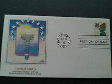 Fleetwood  Scott 2531A  Liberty Torch (29c)  1991  Bk Self Adhesive Stamp Cover