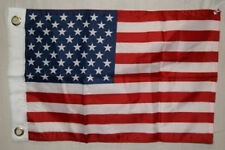 "US Flag 50 Star United States 12"" x 18"" Boat/ BIKE FLAG  GROMMETS"