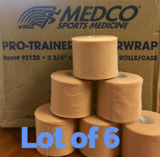 "6 ROLLS - MEDCO SPORTS MEDICINE PRO-TRAINER FOAM UNDERWRAP 2 3/4 "" X 30 YARDS"