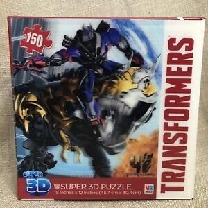 Transformers 150 Piece Super 3D Puzzle Dinobot Slag 2014 MB SEALED