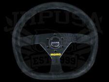 Momo Mod 88 Black Suede Black Spoke Steering Wheel 350mm R1988/35S