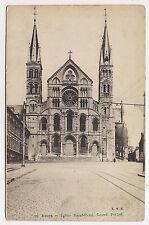 reims , église saint-remi , grand portail