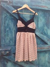 womens dress size 8 black nude lace keyhole midriff summer Miss Selfridge £45