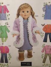 "Simplicity Sewing Pattern 4786 18"" Dolls Clothes Crafts Uncut Top Dress Pants"
