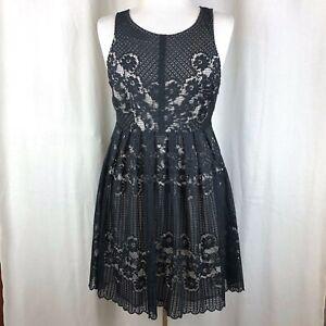 NWT Free People Black Lace Sleeveless Dress Size 4