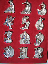 Harvey Lewis The Twelve Days of Christmas Ornaments w/Swarovski Crystals