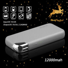 12000mAh Dual USB Portable GREY Battery Charger Power Bank For Cell Phone US