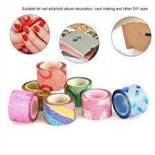 50Rolls/Set DIY Self Adhesive Glitter Washi Masking Tape Sticker Craft Decor US