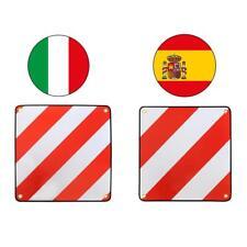 Alu Warntafel 50x50cm für SPANIEN und ITALIEN Fahrradträger Kupplungsträger
